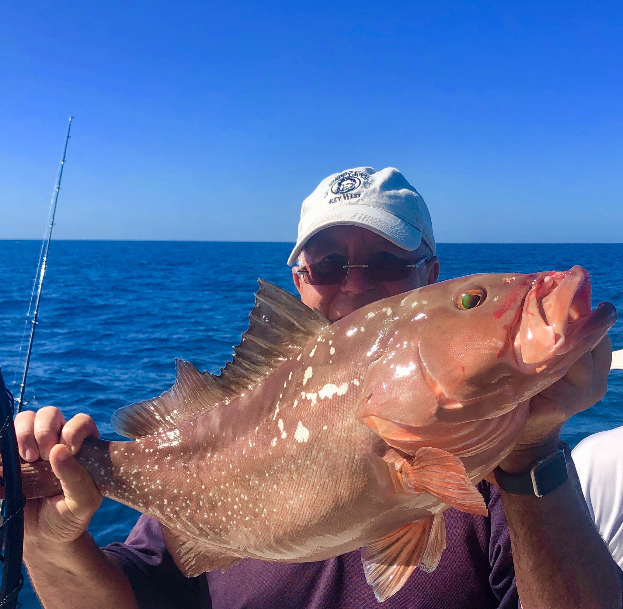 "Jeff Britt's 26.5"" Red Grouper caught while fishing on the BFC 1/15/2020 Capt. Marvel Charter."
